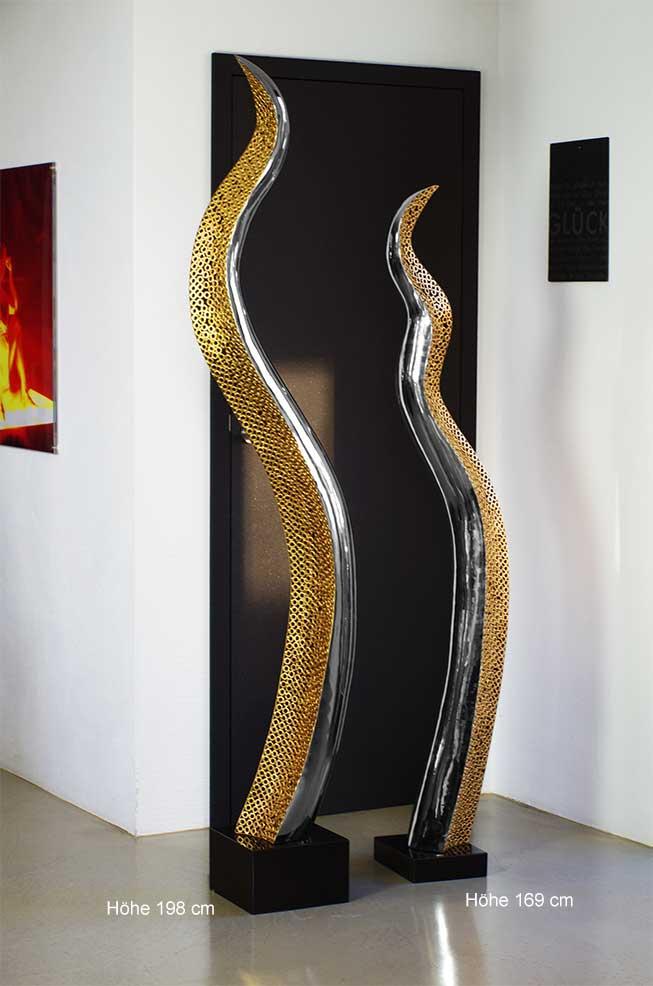 Skulpturen Wohnzimmer Progo