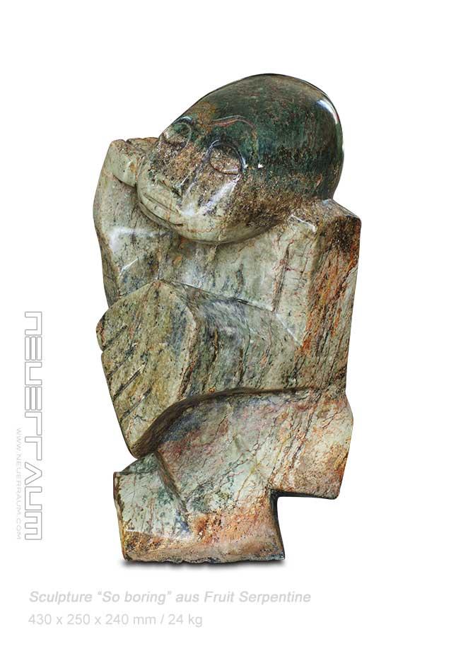 Amazing stone sculpture quot so boring handmade h cm