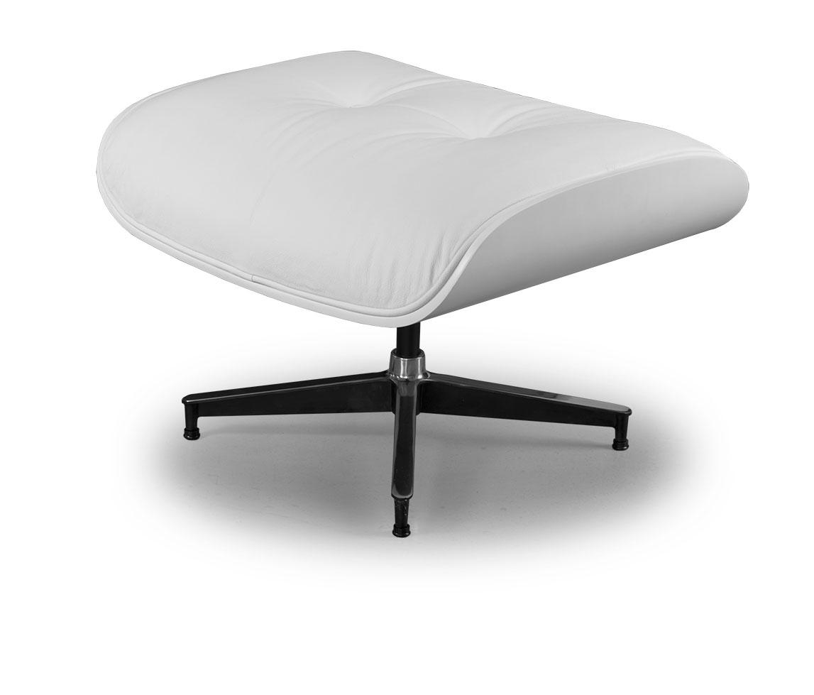 bequemer fu hocker mit leder wei o leder schwarz eiche. Black Bedroom Furniture Sets. Home Design Ideas