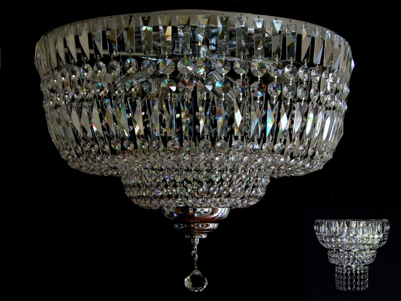 Ceilings Chandelier with Real Crystal Gold or Silver,matching Wall lights verf eBay