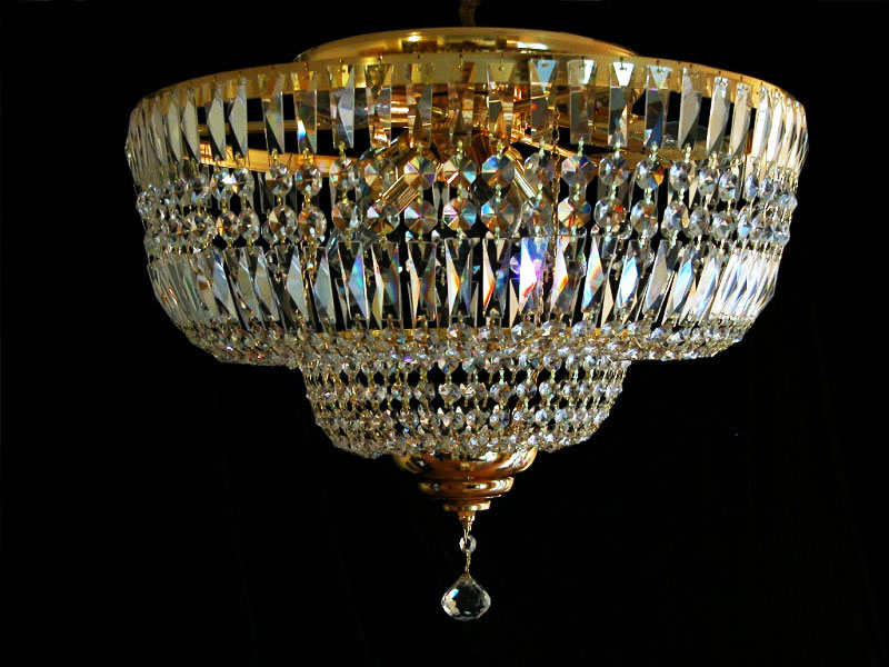 Ceilings Chandelier with Real Crystal Gold or Silver,matching Wall lights verf
