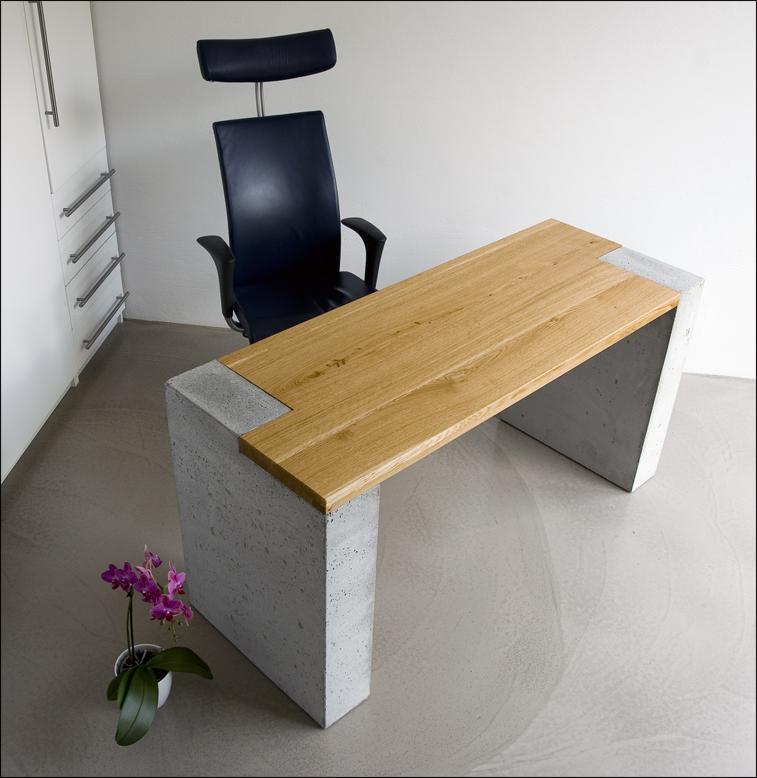 schreibtisch beton bestseller shop f r m bel und einrichtungen. Black Bedroom Furniture Sets. Home Design Ideas
