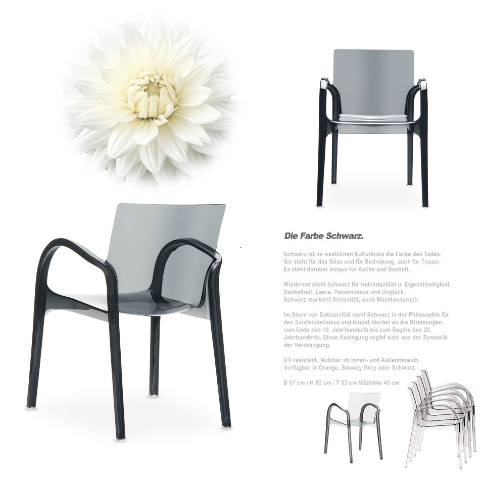 chaise acrylique transparente ghost chair orange black ebay. Black Bedroom Furniture Sets. Home Design Ideas