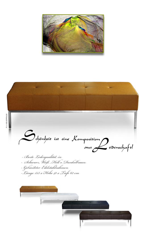 Bauhaus banc banquette cuir en noir marron ou en blanc - Banquette simili cuir noir ...