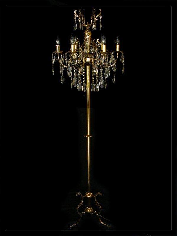 Kristall stehlampe mit echtem kristall schwere for Stehlampe kristall