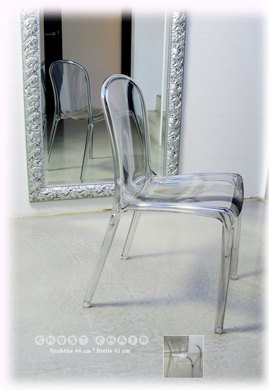 Acrylic Chair Transparent Ghost Victoria Crystal Clear Excellent Quality EBay