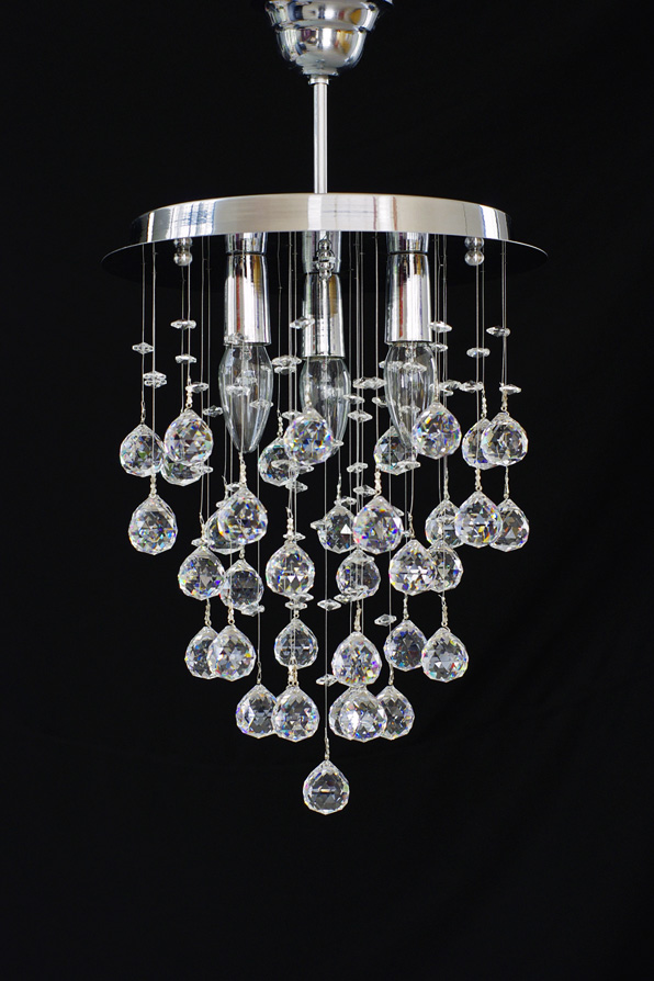 Small round crystal chandelier with real crystal balls 4260418994728 categories aloadofball Choice Image
