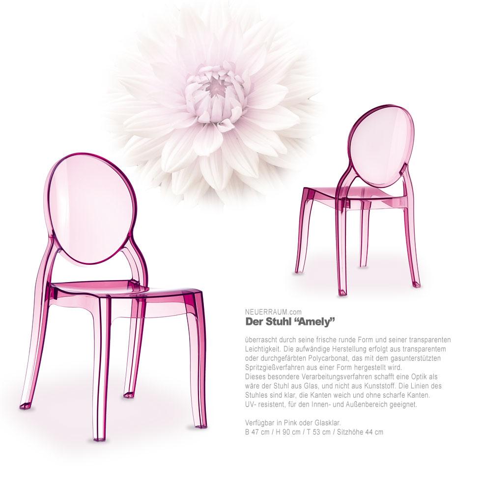 acryl plexiglas ghost st hle elizabeth pink amber oder glasklar ebay. Black Bedroom Furniture Sets. Home Design Ideas