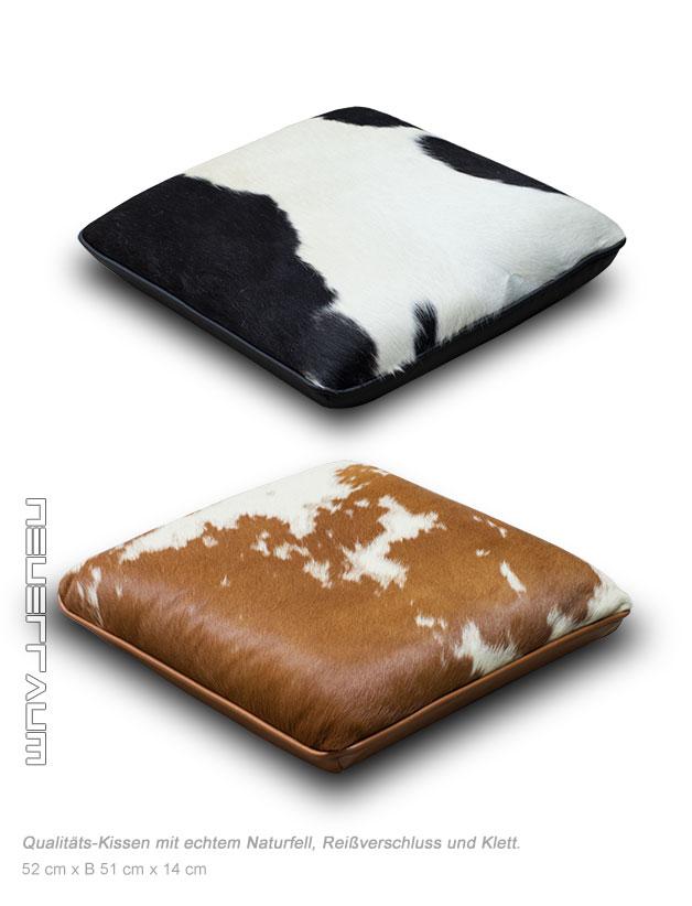 kuhfell kissen fensterbank sitzauflage stuhlkissen klett kuhfell schwarz o braun ebay. Black Bedroom Furniture Sets. Home Design Ideas